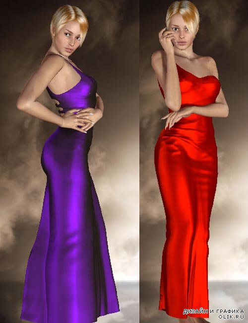 3d daz - Starlight Dress