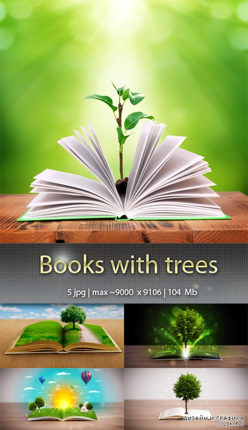 Books with trees