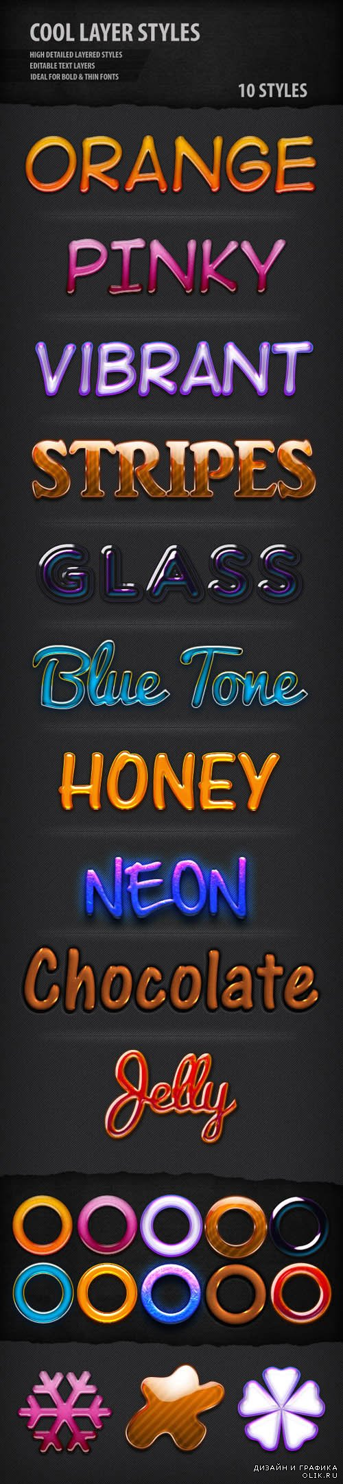 Cool Text Styles for Photoshop