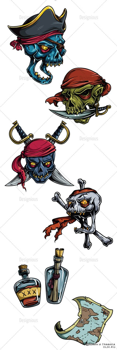 Pirates Vector Set