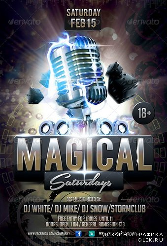 GraphicRiver - Magical Saturdays Party Flyer - 6591895