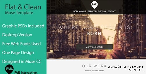 TF - Flat & Clean - One Page Parallax Muse Theme - FULL