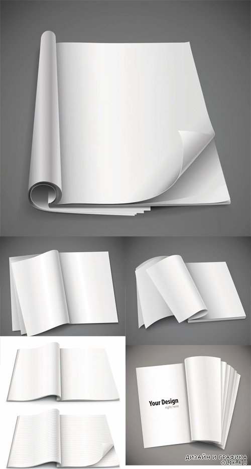 Vector Open Books Mock-ups