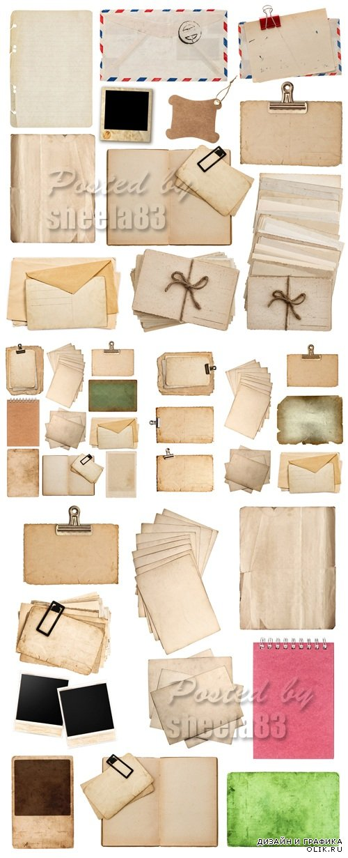 Stock Photo - Vintage Paper Sheets 2