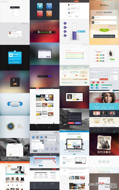 Web Elements Bundle PSD