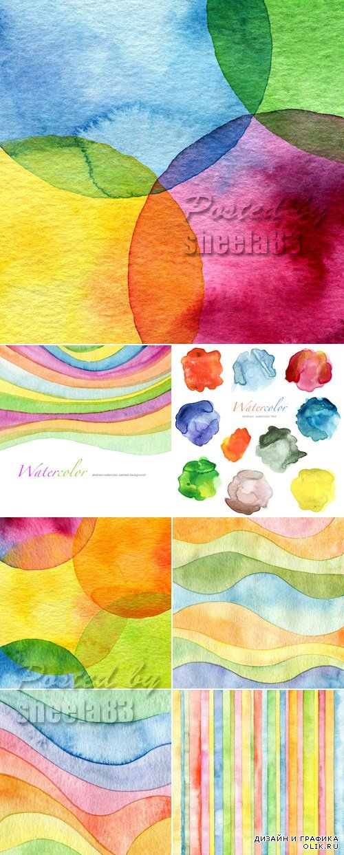 Stock Photo - Watercolor Painted Backgrounds