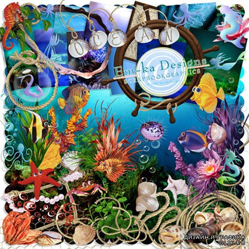 Scrap - Colourful Island of Treasures JPG and PNG Files