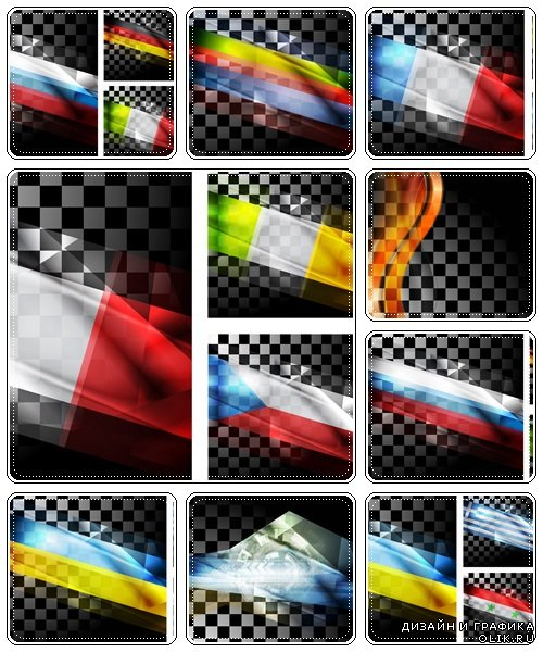 Abstract backgrounds, 20  - vector stock