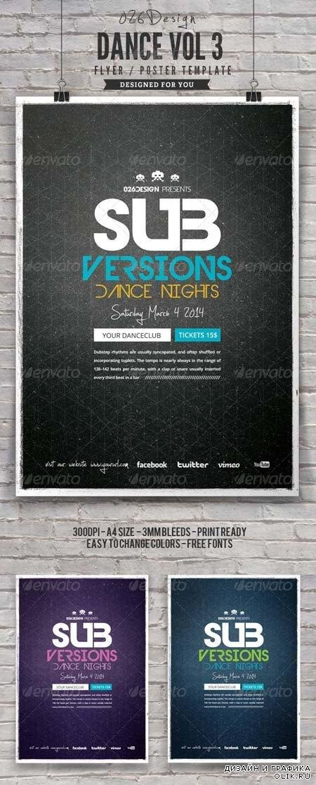 PSD - Dance Poster / Flyer Vol 3 6961187