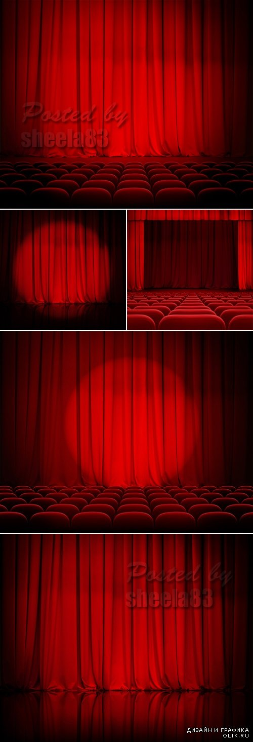 Stock Photo - Red Theater Curtains