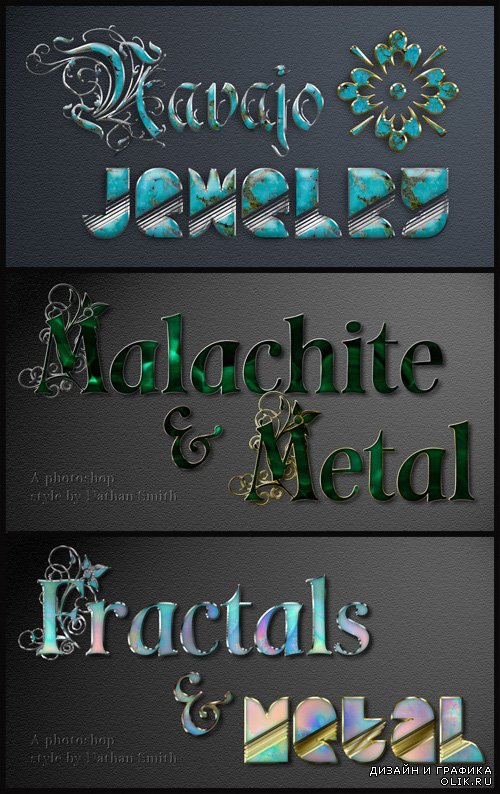 Jewelry & Fractal Styles for Photoshop