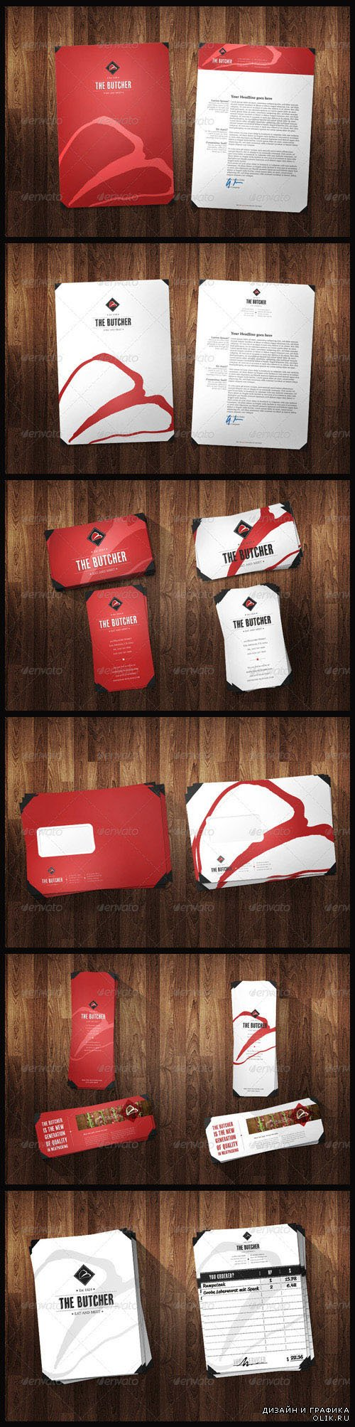 Corporate Identity Pack - Red & White Versions