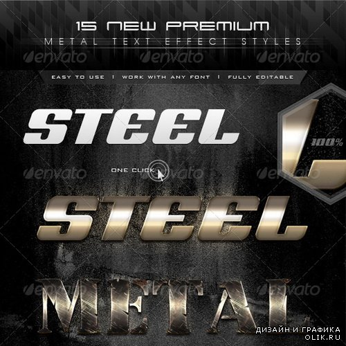 GraphicRiver - 15 New Premium Metal Text Effect Styles