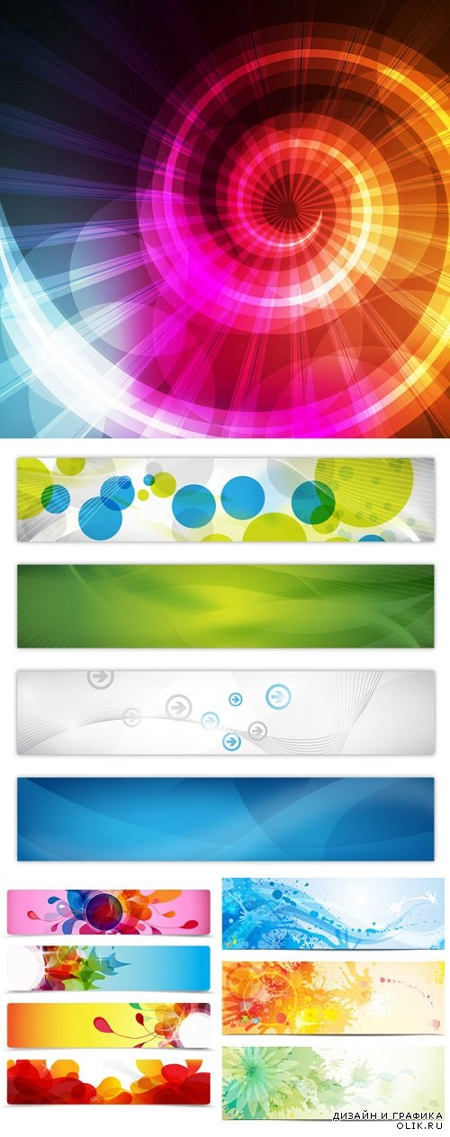 Vector - Abstract nice backgrounds ticket