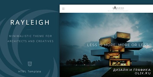 TF - Rayleigh - A Responsive Minimal Architect Template - RIP