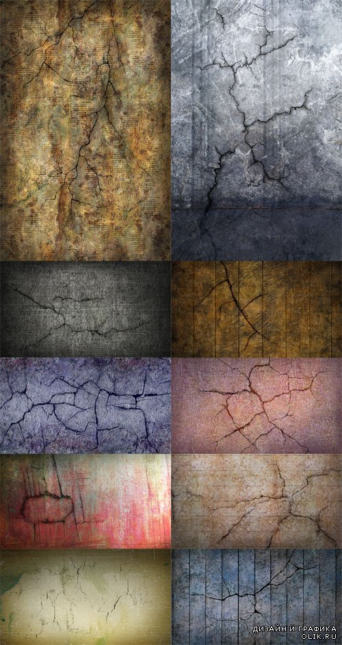 Cracked Stone Wall Textures PSD
