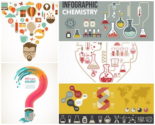 Creativ infographic idea - vector stock