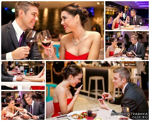 Love couple toasting - stock photo