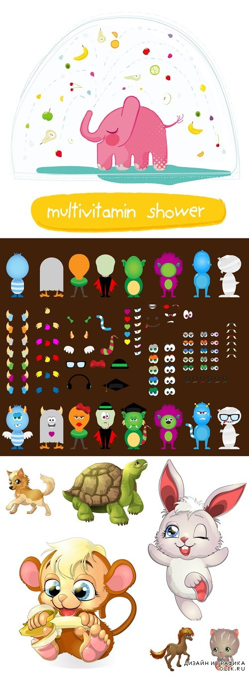 Vector - Childrens characters and toys