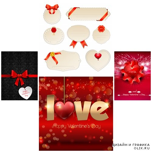 Vector collection for Valentines Day, 14 February, part 34