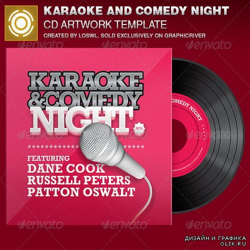 GraphicRiver - Karaoke and Comedy Night CD Artwork Template