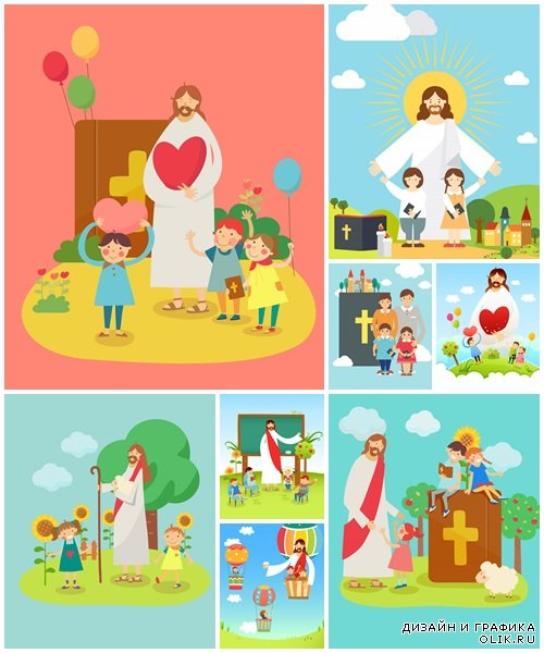 Easter vector collection - vector stock
