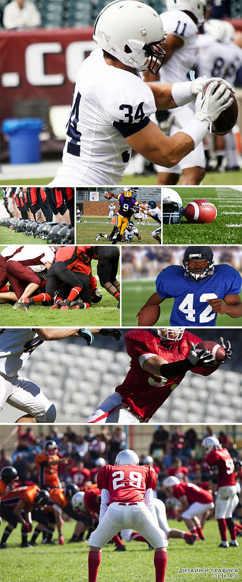 Stock Photo: American football players