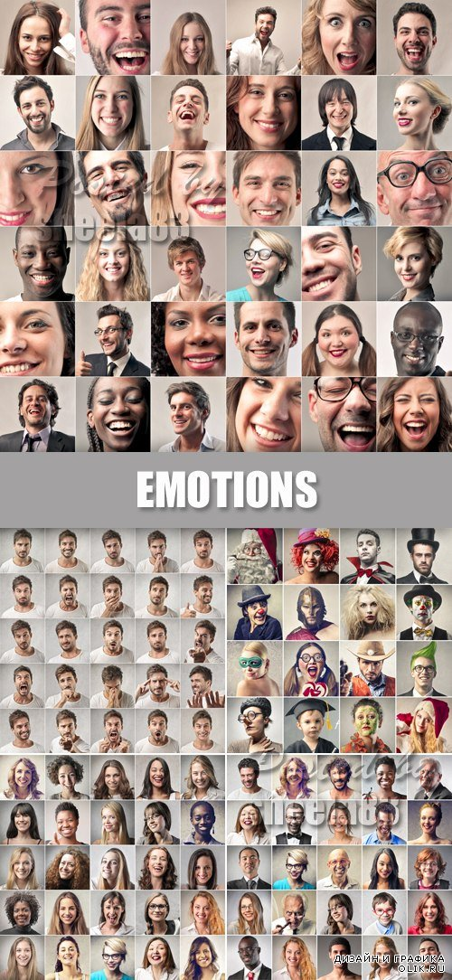Stock Photo - Emotions Collage