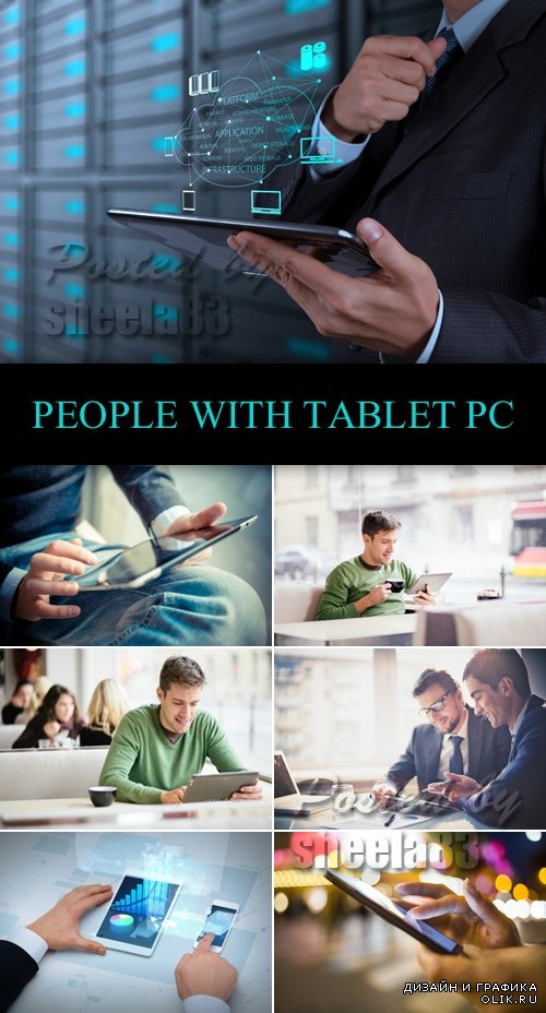 Stock Photo - People with Tablet PC