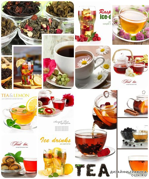 Herbal and fruit tea - stock photo