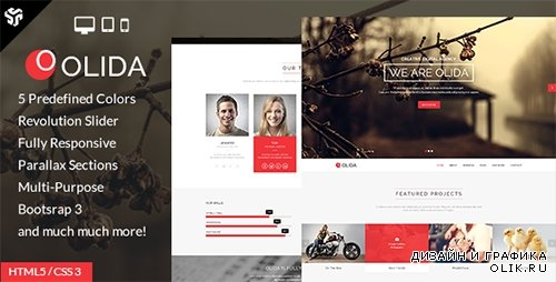 TF - Olida | Responsive One Page Multi-Purpose Parallax - RIP