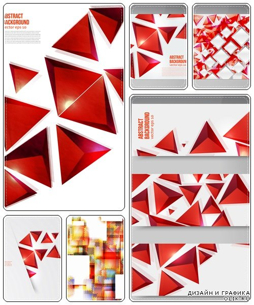 Abstract backgrounds, 21  - vector stock