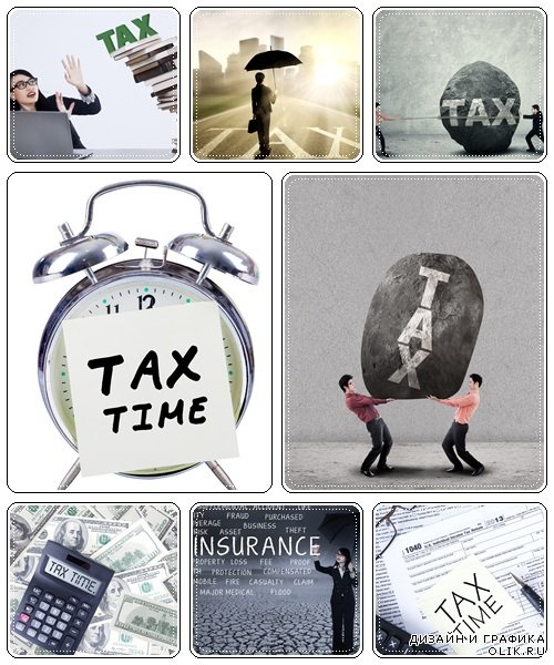 Corporation tax time concept - stock photo