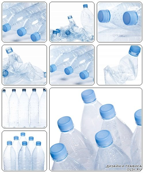 Utilization concept. Empty water bottle - stock photo
