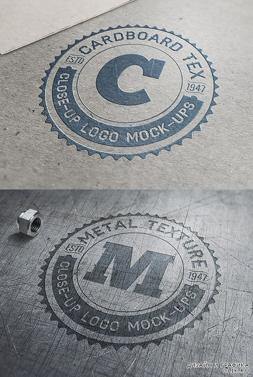 Graphics - Art close up logos mockup