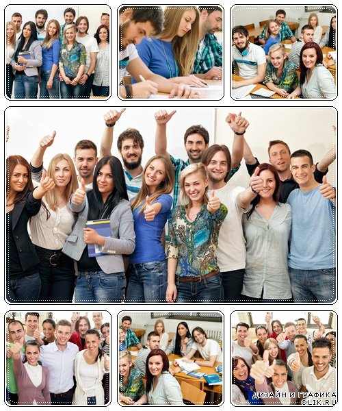 Happiness students - stock photo