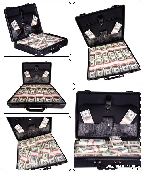 Case full of dollar - Stock Photo