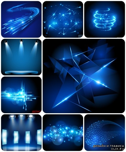 Abstract blue backgrounds, 25 - vector stock