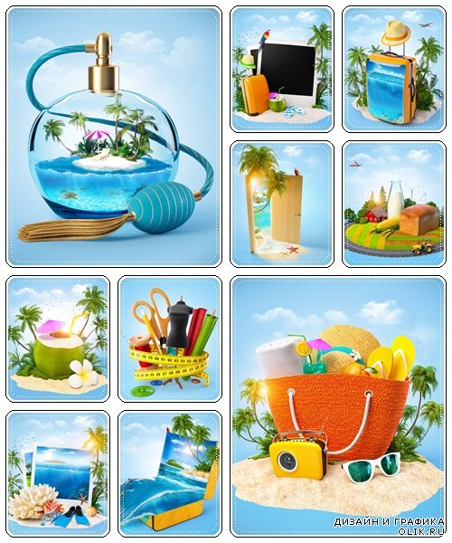 Tropical paradise concept - Stock Photo
