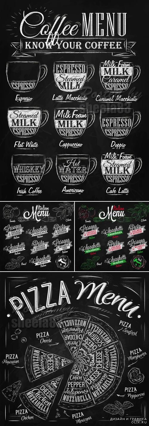 Menu Design Elements Vector