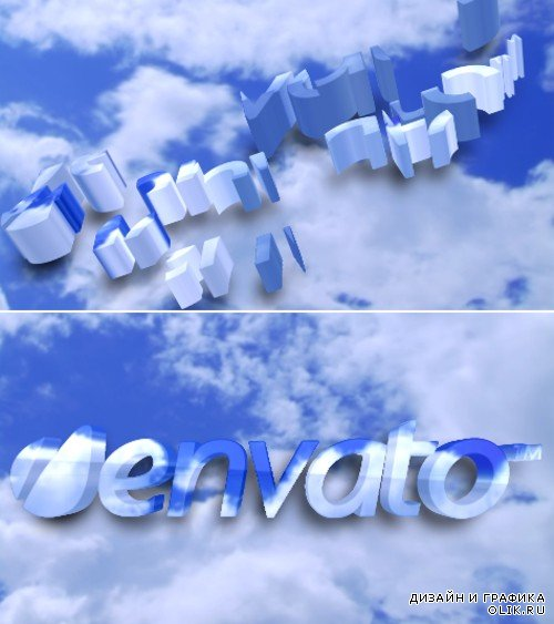 After Effects Project logo in the clouds