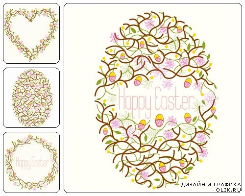 Easter vector collection, part 46  - vector stock