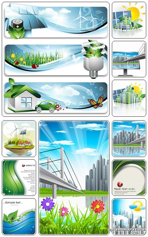 Eco background, part 22  - vector stock