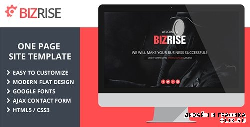 t - BIZRISE - Creative One Page Website Template - RIP