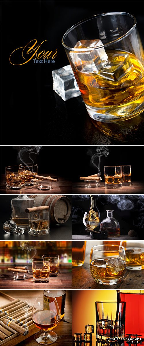 Stock Photo: Whiskey in glasses
