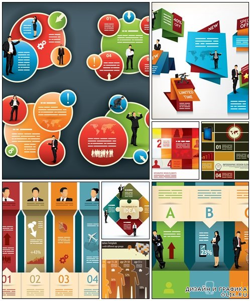 Set of infograph elements, part 111 - vector stock