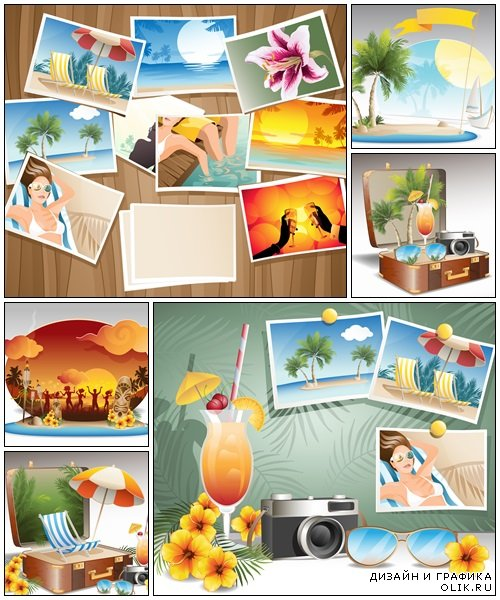 Traveling elements - vector stock