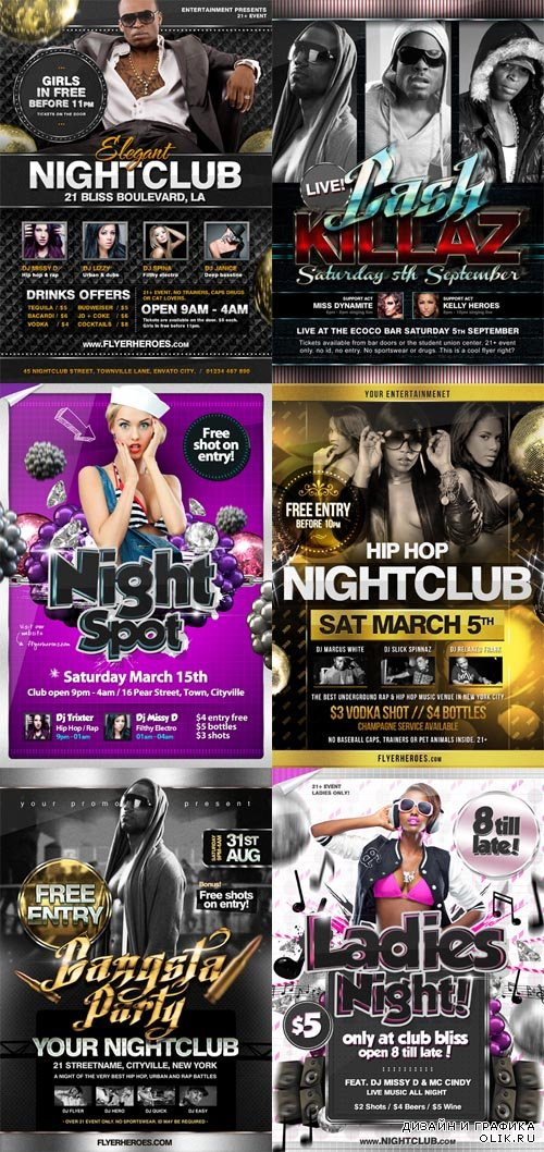 Club Flyer Templates Collection 2