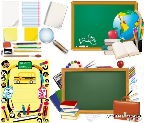 Back to school books pencil vector