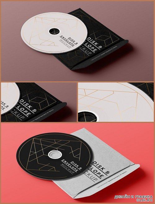 CD Disk Sleeve in Box Mock Up